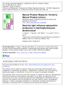 Does the light influence astaxanthin production in