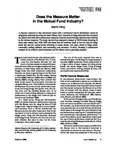 Does the Measure Matter in the Mutual Fund Industry? - CiteSeerX