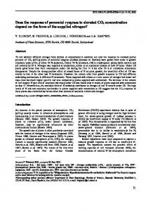 Does the response of perennial ryegrass to elevated CO2 ... - CiteSeerX