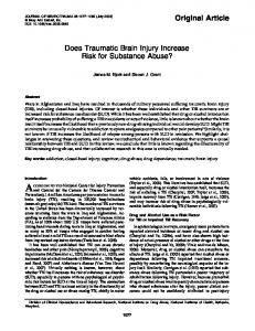 Does Traumatic Brain Injury Increase Risk for Substance Abuse?