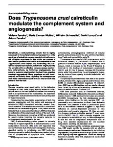 Does Trypanosoma cruzi calreticulin modulate the complement ...