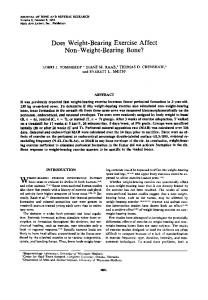 Does weight-bearing exercise affect non-weight ... - Wiley Online Library