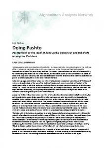 Doing Pashto - Afghanistan Analysts Network