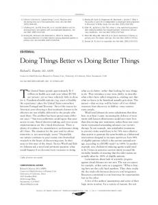 Doing Things Better vs Doing Better Things - Semantic Scholar