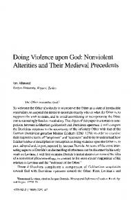 Doing Violence upon God: Nonviolent Alterities and ...