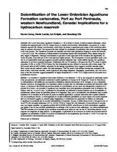 Dolomitization of the Lower Ordovician Aguathuna Formation ...
