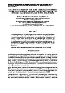 domain decomposition and cmfd acceleration ... - Semantic Scholar