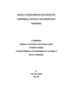 DOMAIN DECOMPOSITION METHODS FOR ...