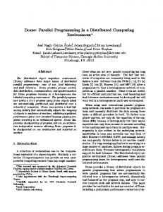 Dome: Parallel Programming in a Distributed ...