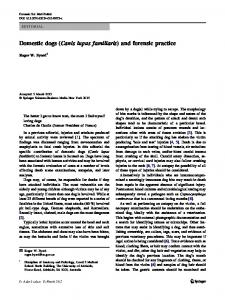 Domestic dogs (Canis lupus familiaris) and forensic practice ...