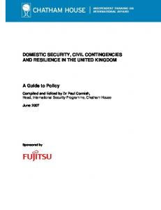 DOMESTIC SECURITY, CIVIL CONTINGENCIES ... - Chatham House
