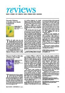 Domestic Violence: A Handbook for Health Professionals ... - The BMJ