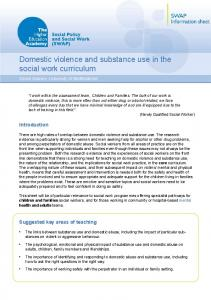Domestic violence and substance use in the social work curriculum