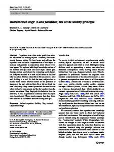 Domesticated dogs' (Canis familiaris) use of the solidity principle