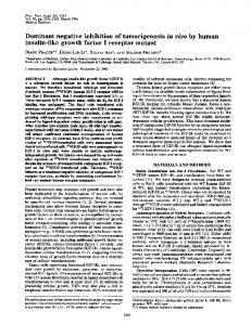 Dominant negative inhibition of tumorigenesis in vivo by human ...