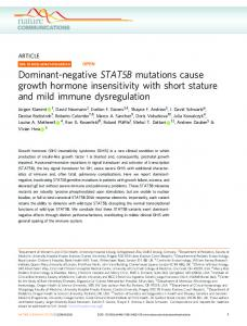 Dominant-negative STAT5B mutations cause growth ... - Nature