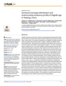 Dominant serotype distribution and antimicrobial resistance ... - PLOS