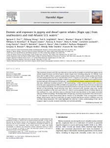 Domoic acid exposure in pygmy and dwarf sperm ...