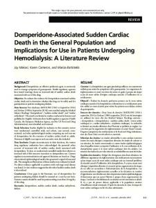 Domperidone-Associated Sudden Cardiac Death ... - Semantic Scholar