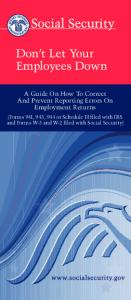 Don't Let Your Employees Down - Social Security