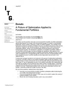 Donuts A Picture of Optimization Applied to Fundamental Portfolios - ITG
