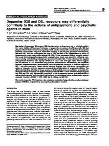 Dopamine D2S and D2L receptors may differentially ... - Nature