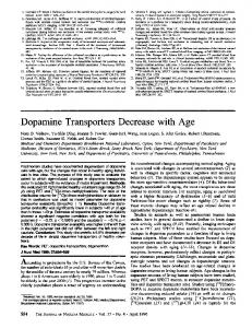 Dopamine Transporters Decrease with Age - Journal of Nuclear ...