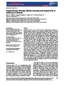 Dopaminergic therapy affects learning and ... - Wiley Online Library