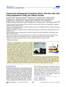 Dopant-Free Hydrogenated Amorphous Silicon Thin-Film Solar Cells ...