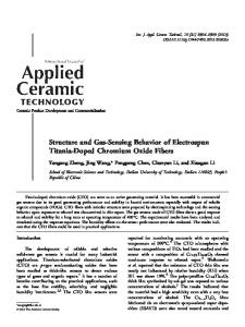 Doped Chromium Oxide Fibers - Wiley Online Library