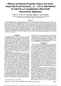 Doped Poly-Si and Poly-GeSi1_ (x0.3) as Gate Material for Sub-0.25 ...