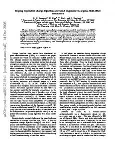 Doping dependent charge injection and band alignment in organic ...