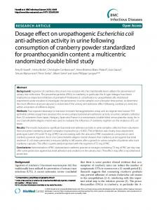 Dosage effect on uropathogenic Escherichia coli anti ... - Shopify