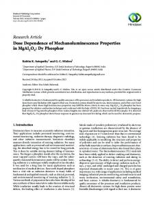 Dose Dependence of Mechanoluminescence Properties in MgAl2O4