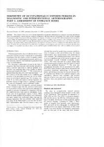 dosimetry of occupationally exposed persons in ...