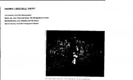 DOSSIER 1: SPECTACLE THEORY - Columbia University