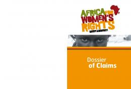 Dossier of Claims - FIDH