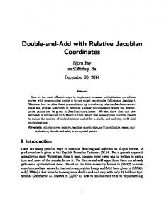 Double-and-Add with Relative Jacobian Coordinates