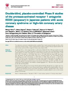 Double-blind, placebo-controlled Phase II studies