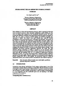 double-effect solar absorption thermal energy storage