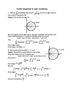 Double integration in polar coordinates problems and solutions