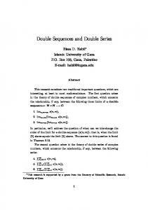 Double Sequences and Double Series