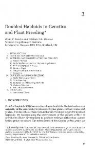 Doubled Haploids in Genetics and Plant Breeding
