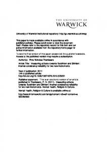 Download (101Kb) - Warwick WRAP - University of Warwick