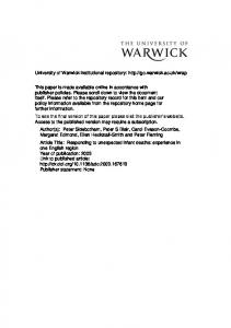 Download (126Kb) - Warwick WRAP - University of Warwick