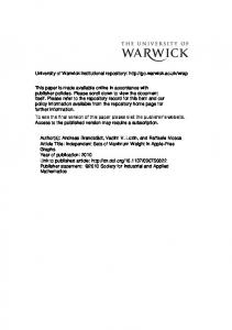 Download (284Kb) - Warwick WRAP - University of Warwick