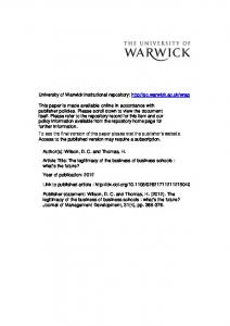 Download (387Kb) - Warwick WRAP - University of Warwick