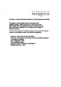 Download (607Kb) - Warwick WRAP - University of Warwick