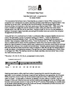 Download a pdf version of this essay. - Music On Main