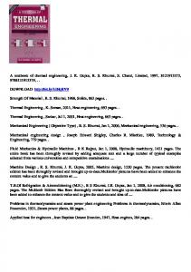 Download A textbook of thermal engineering, J. K. Gupta, R. S. ...